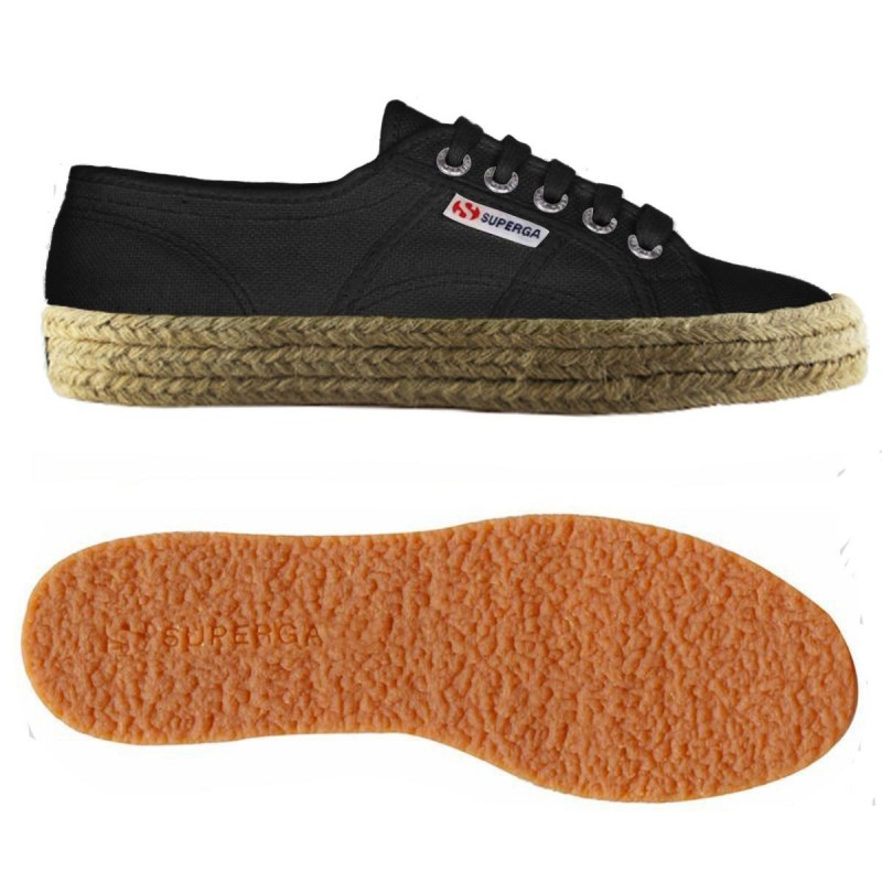 Superga esparto negras