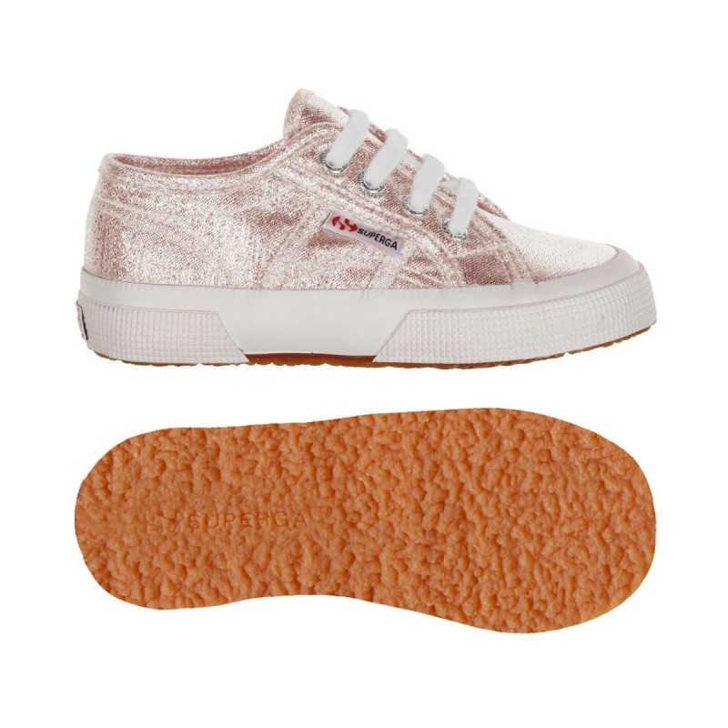 Superga niños rose gold