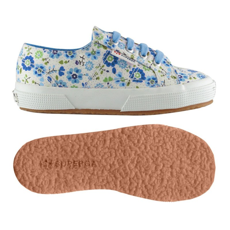 2750-COTFLOWERSJ, 12943, LE SUPERGA S009HR0 C37 FLOWERS AZU