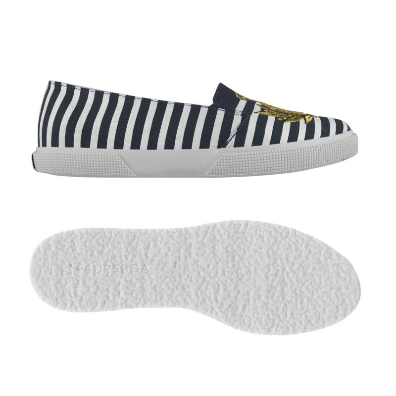2213-COTSTRIPESW SCHVILI, 14362, LADY SHOES S00B0D0 914 WHITE-BLUE