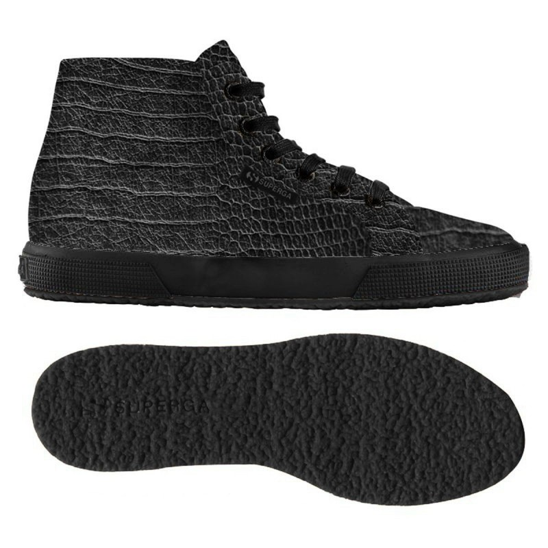 2095-PLUS FGLWEMBCOCCO, 12121, LE SUPERGA S008HM0 F90 TOTAL BLACK