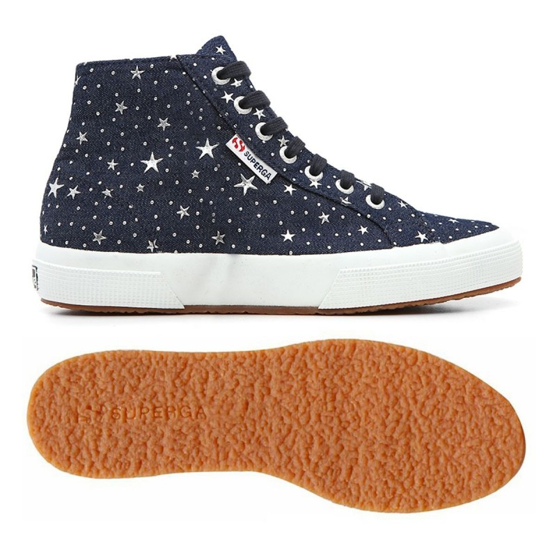 Superga Mid top estrellas denim