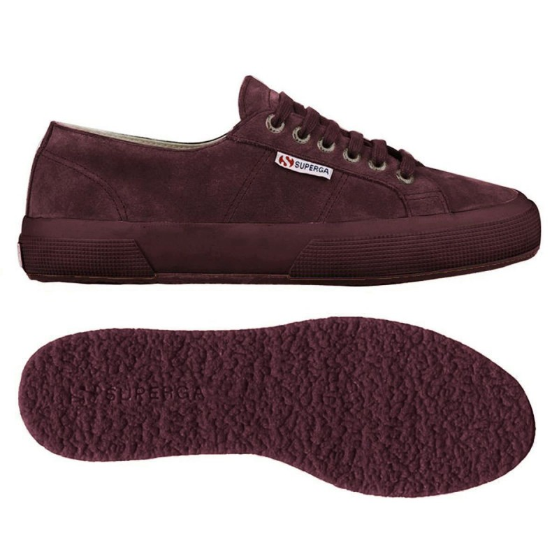 Superga suede burdeos