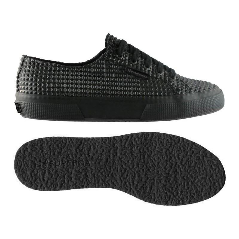 2750-PLUS RBRPYRAMIDU, 12121, LE SUPERGA S0094P0 902 TOTAL BLACK