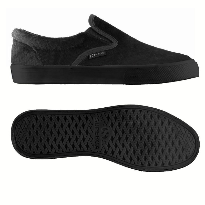 Superga slip on LEAHORSEW TOTAL BLACK