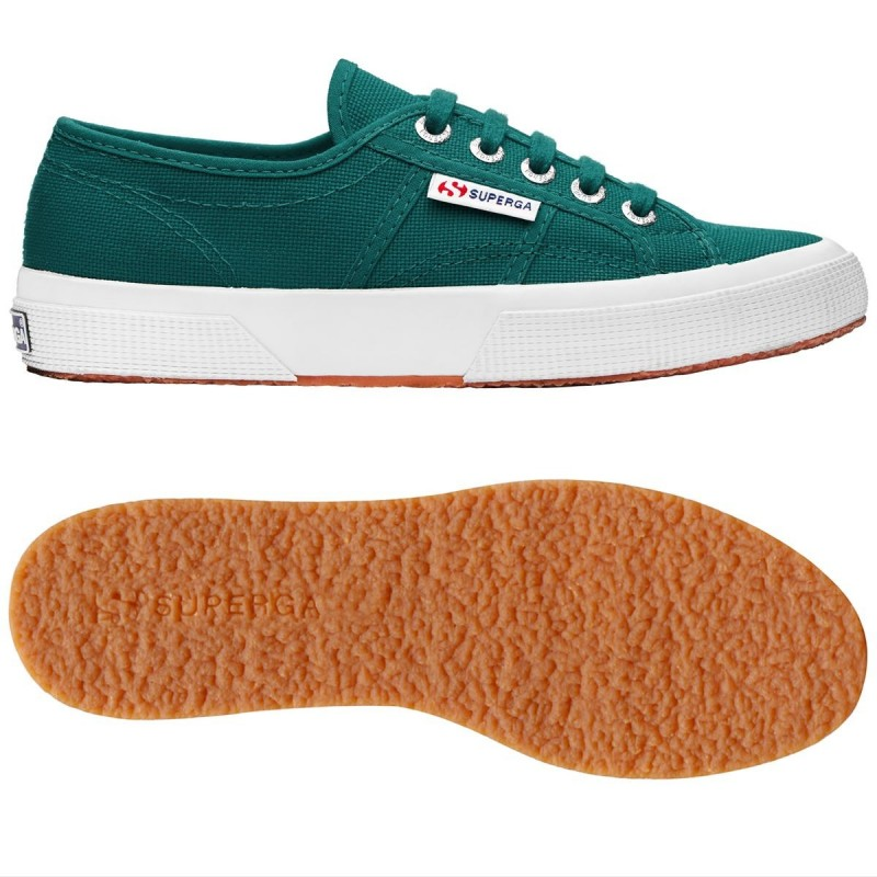 Superga clásica 2750 green teal