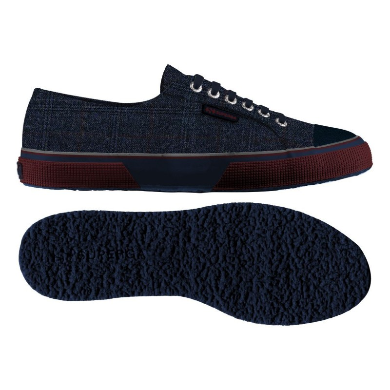 2750-FABRIC GALLESFGLM, 13573, LE SUPERGA S00A2Q0 922 BLUE-BORDEA