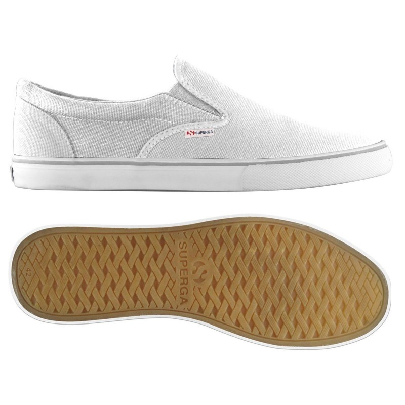Superga slip on blancas