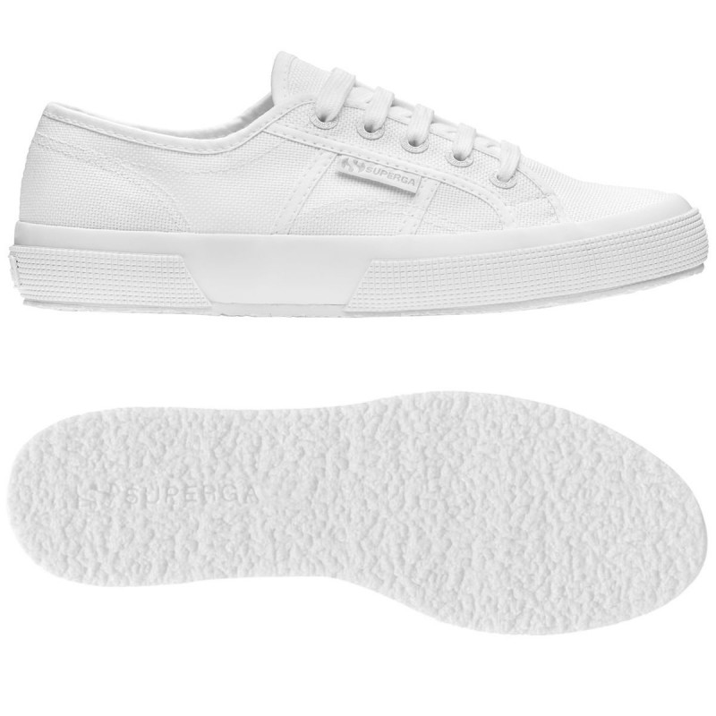 Superga clásica 2750 blanco total