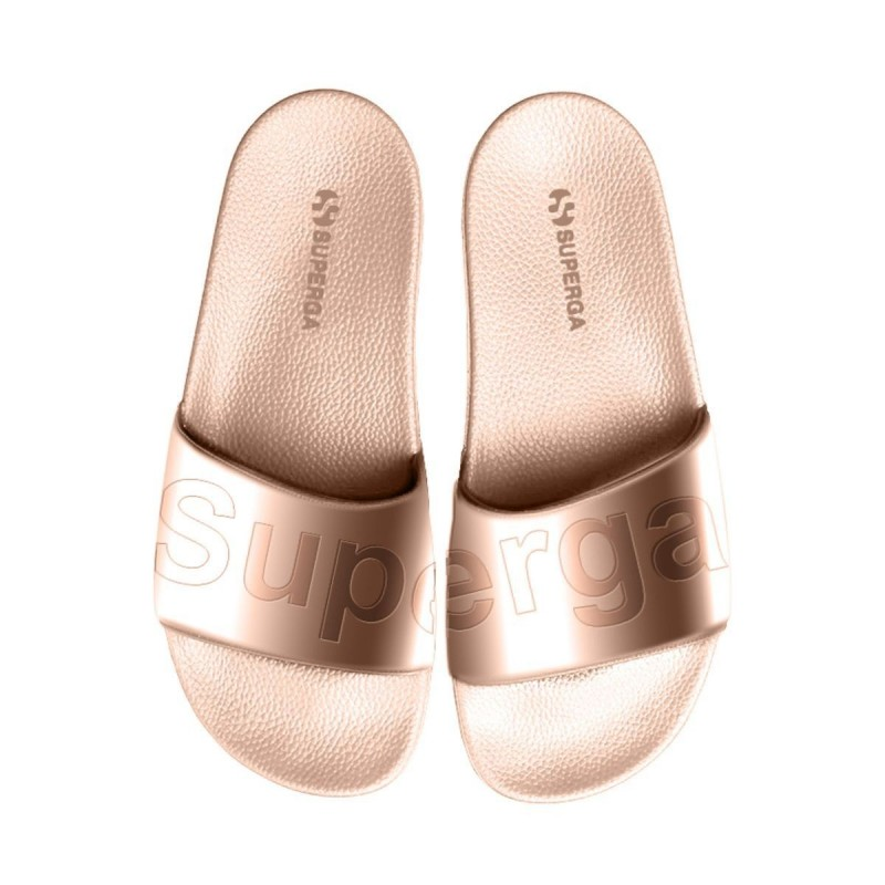 Superga Sandalias de playa doradas rose gold