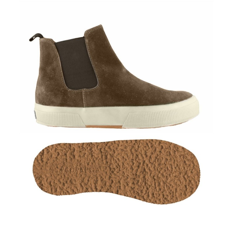 Superga botas niño marrones