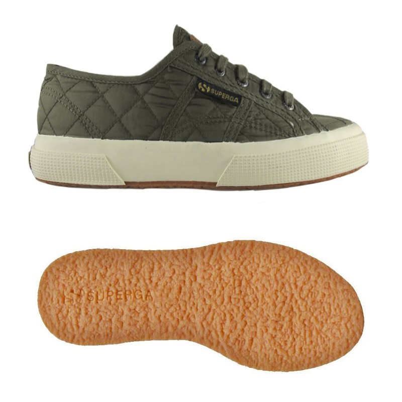 2750-QUILTNYLJ, 15112, LE SUPERGA S00CJ00 595 MILITARY GREEN