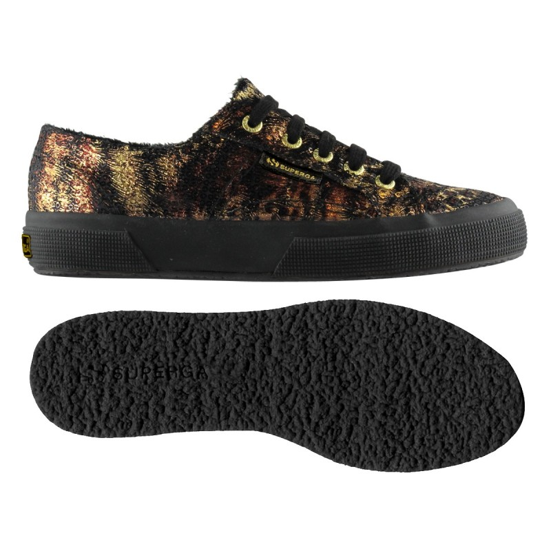 2750-PAIWANIMALS, 12121, LE SUPERGA S009ZL0 904 BLACK-GOLD