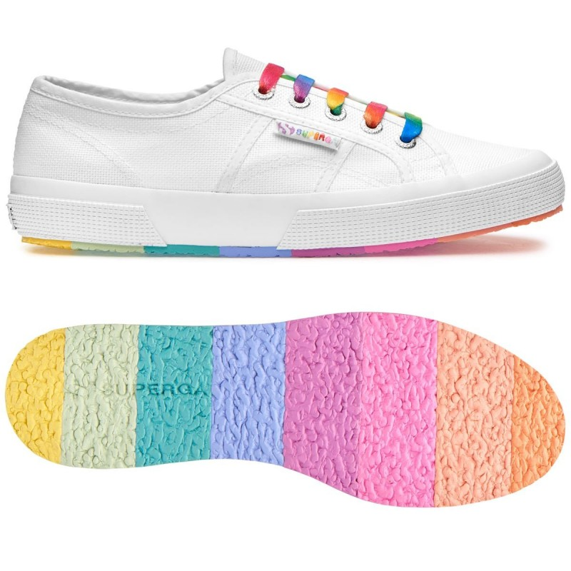 Superga Sneakers - Azul Y Multicolor - Suela: 3 cm Barato Venta Factory Outlet fBQlpQ