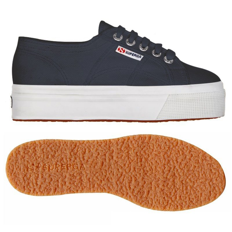 2790ACOTW LINEA UP AND DOWN, 16126, LADY SHOES S0001L0 F43 NAVY-FWHITE