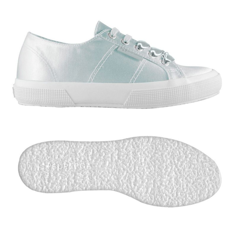 Superga 2750 plus satin gris plata