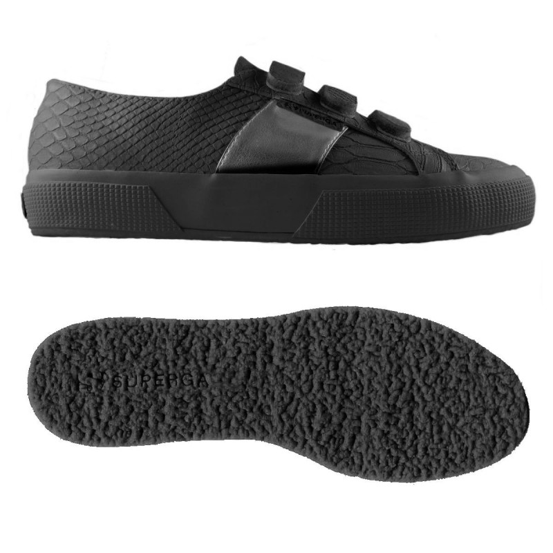 SUPERGA  PUSNAKE3VELW TOTAL BLACK