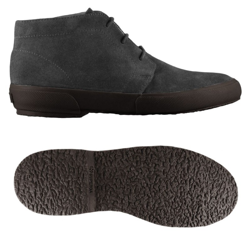 SUPERGA BOTA ANTE CHOCOLATE ANKLE BOOTS  BLACK FULL DARK CHOCOLATE