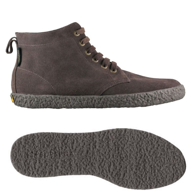 SUPERGA BOTA ANTE SUEDE ANKLE BOOTS FULL DARK CHOCOLATE