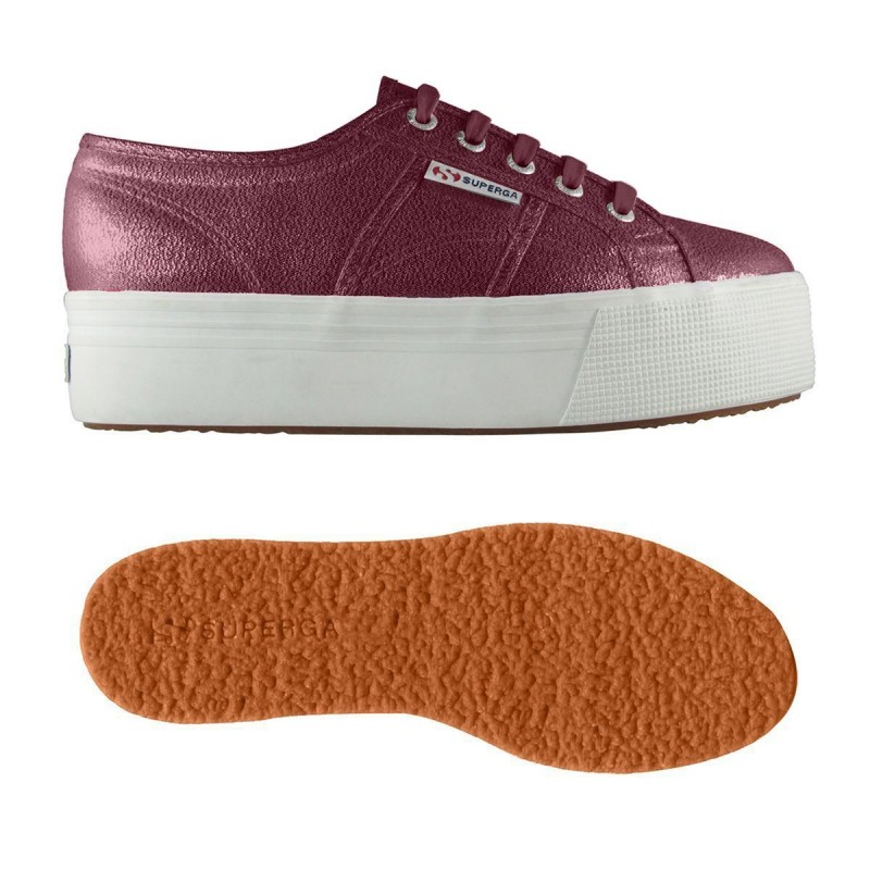 SUPERGA PLATAFORMA LAME BURDEOS