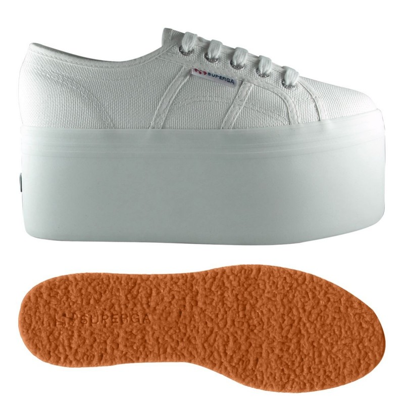 SUPERGA PLATAFORMA UP7 BLANCA