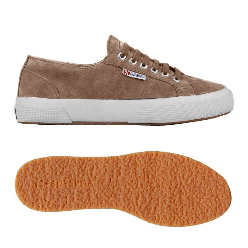 Superga ante marrón biscuit oscuro