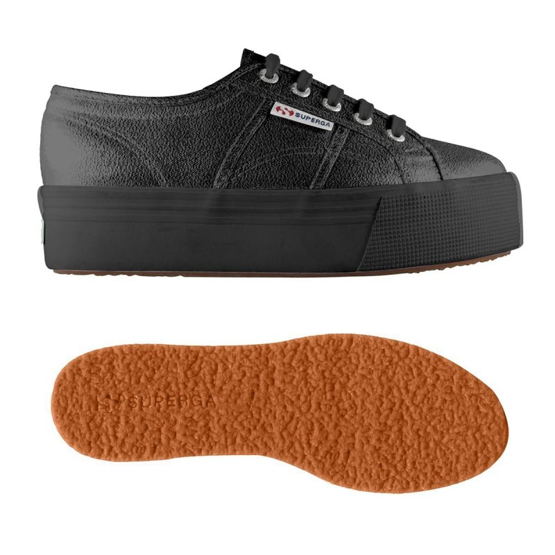 SUPERGA PLATAFORMA LAME FULL BLACK