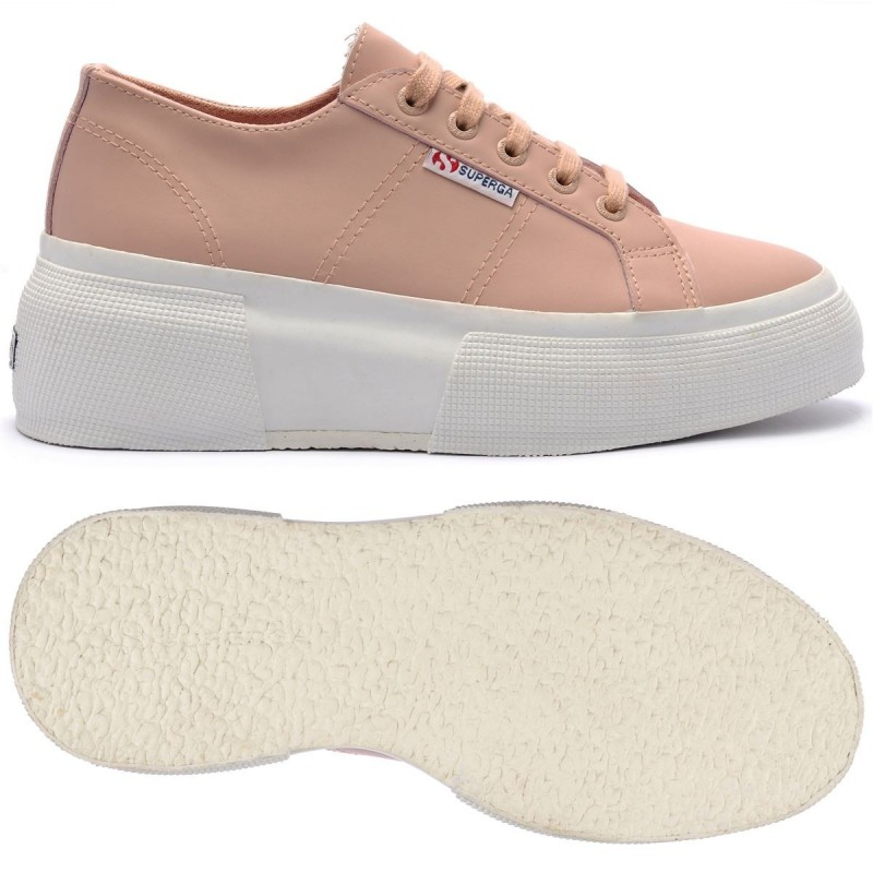 SUPERGA UP5 PIEL ROSA SKIN