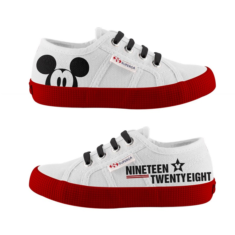 SUPERGA DISNEY NIÑOS CARTOON WHITE-RED