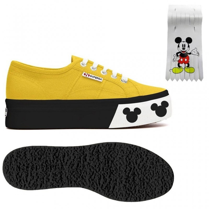 SUPERGA PLATAFORMA MICKEY AMARILLO SUNFLOWER