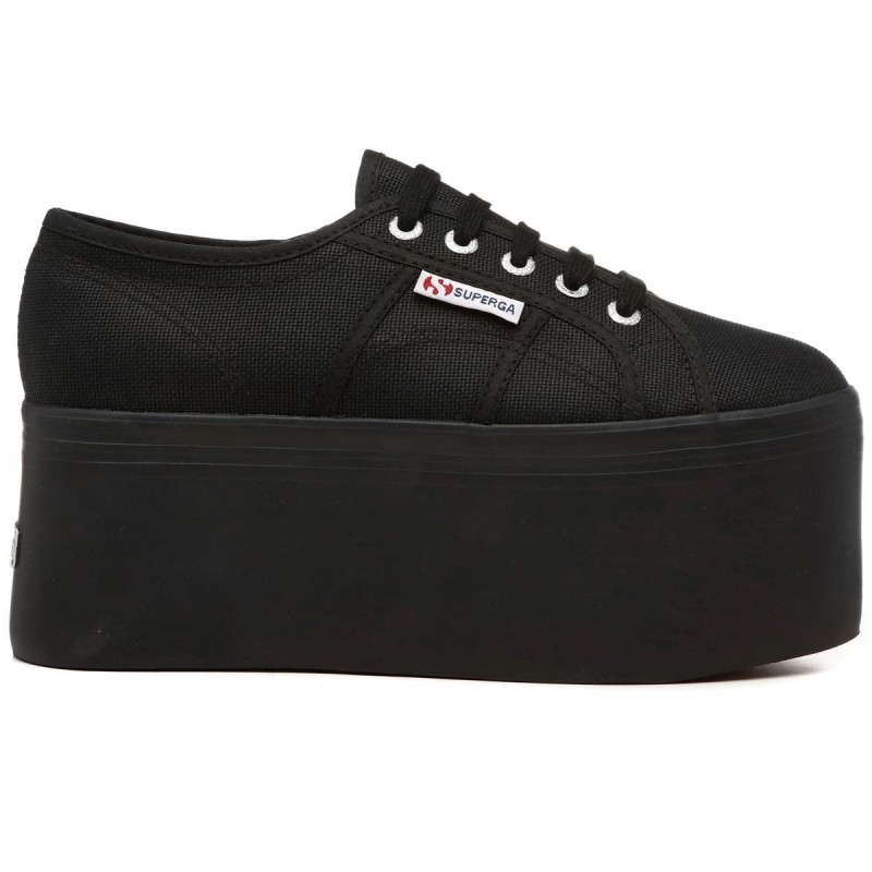 Superga plataforma up7 negras