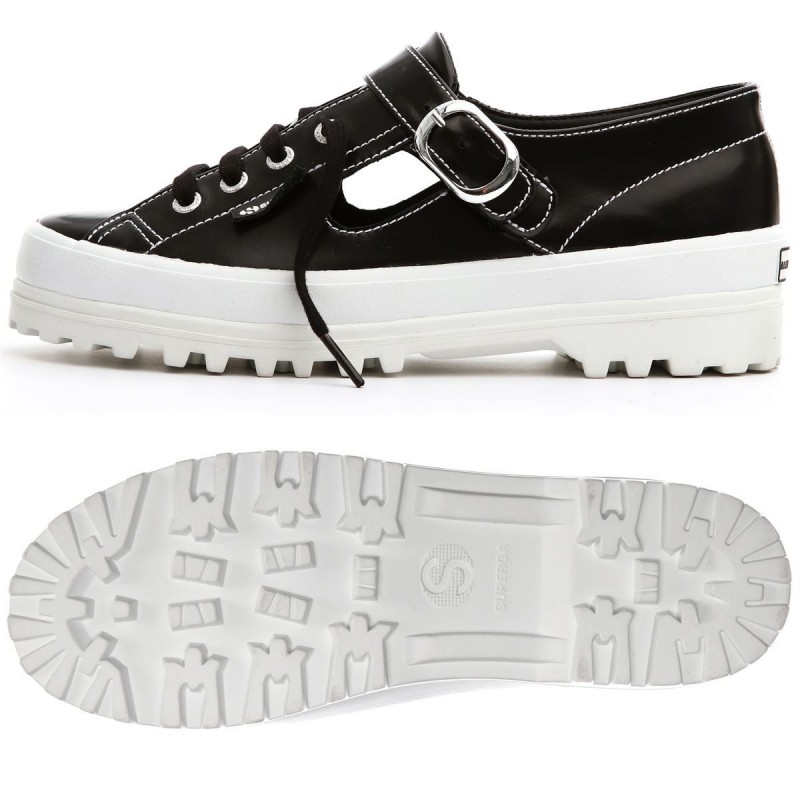 SUPERGA ALEXA CHUNG 2254 ALPINALEAPATENTW BLACK