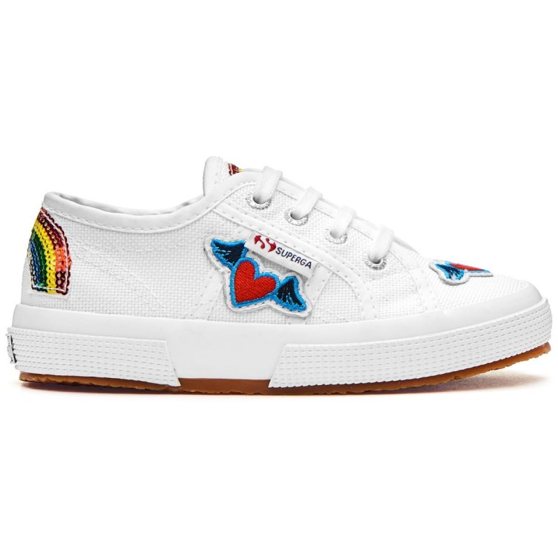 SUPERGA NIÑOS BLANCA PARCHES