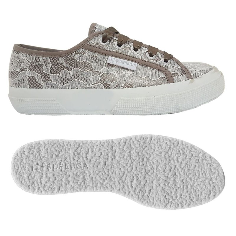 SUPERGA 2750 BLONDA S00C420 927 GREYSILVER-WHITE LACE