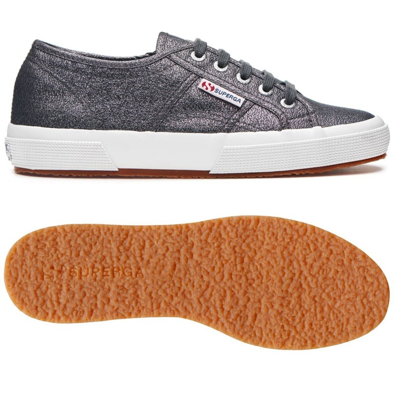 SUPERGA 2750 PLUS LAME S009510 909 GUNMETAL