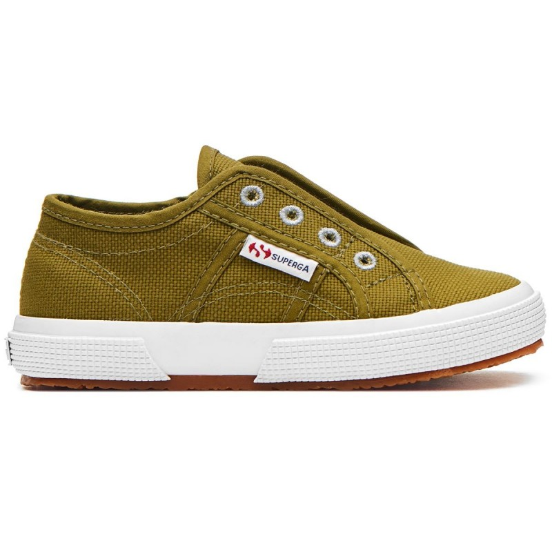 SLIP-ON SUPERGA JUNIOR VERDE MILITAR