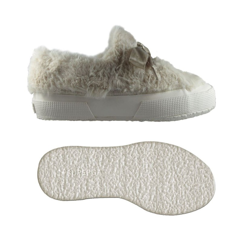 SUPERGA ECOFUR S00EU70 W06 WHITE CREAM