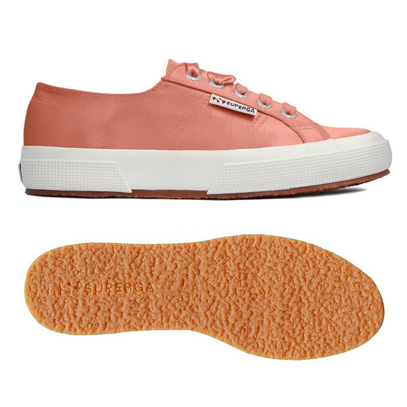 Superga peach coral 2750 SATINW S00DG40 920