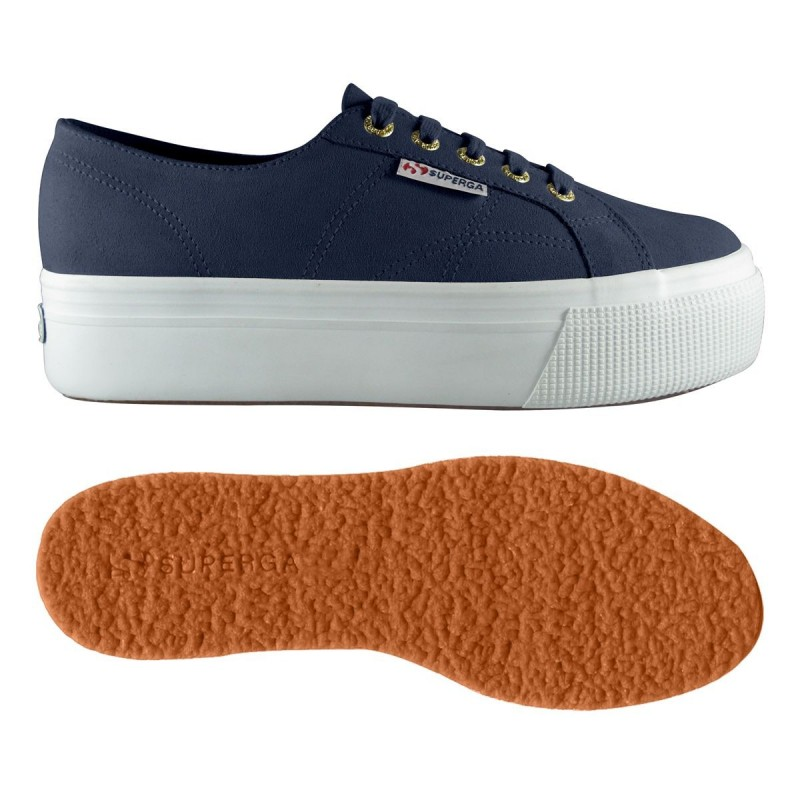 SUPERGA DOBLE SUELA 2790 SUEDE S003LM0 J41 BLUE NIGHT