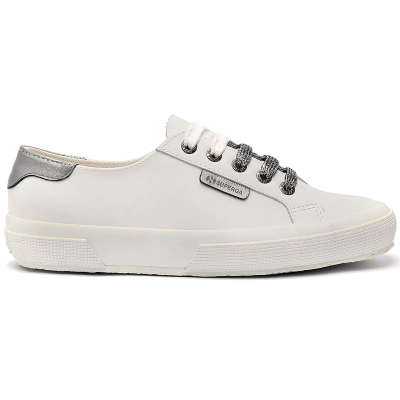 SUPERGA BLANCA PIEL FASHION