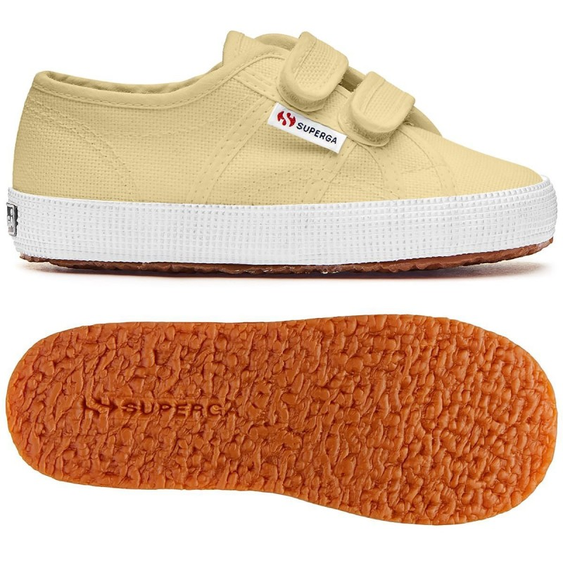 Superga suela ligera niños color Beige Double Cream S00CCT0 Q29