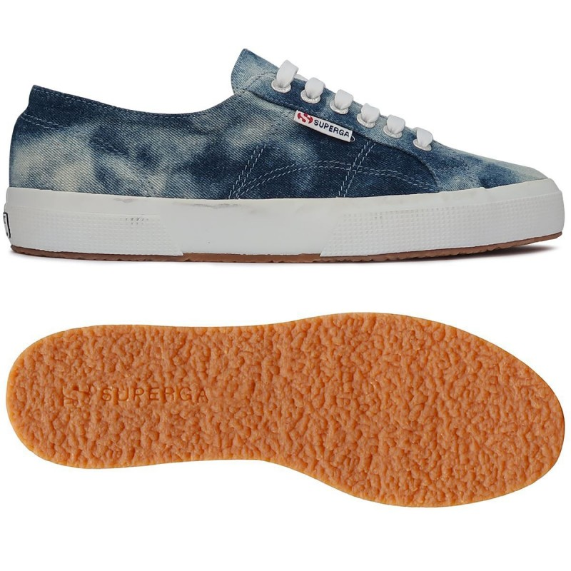 SUPERGA 2750 TIE DYE DENIM S00FLA0 729 BLUE