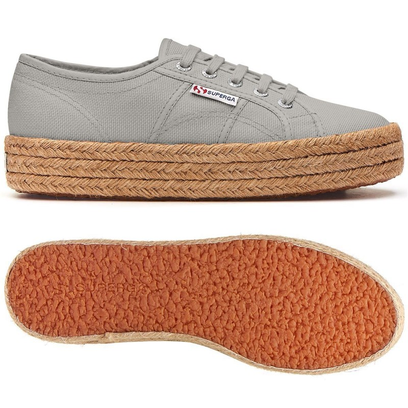 SUPERGA ESPARTO 2730 COTROPEW GREY SEASHELL