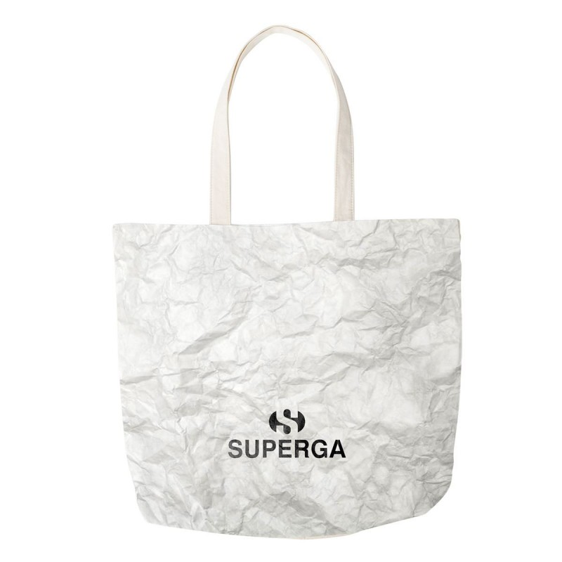 TOTE BAG SUPERGA PAPER S00FDK0 901 WHITE