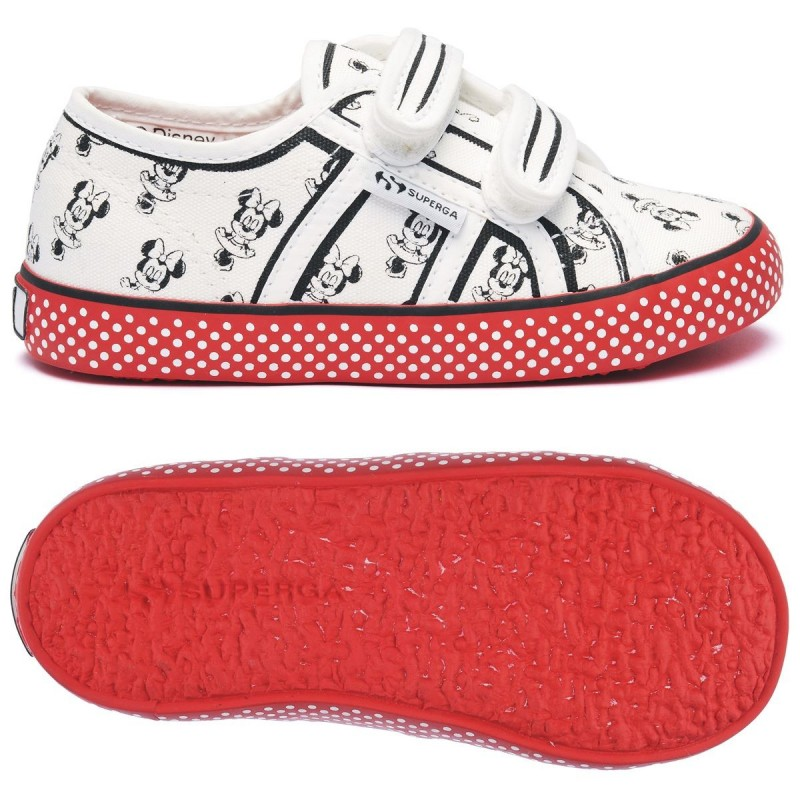 SUPERGA MINNIE BLANCA ROJA