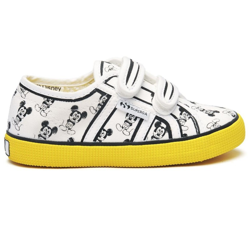 SUPERGA CARTOON BLANCA AMARILLA
