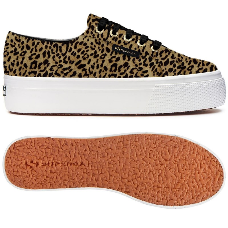 SUPERGA LEOPARDO 2790 LEAHORSEW S00CS50 U21 BROWN LEOPARD