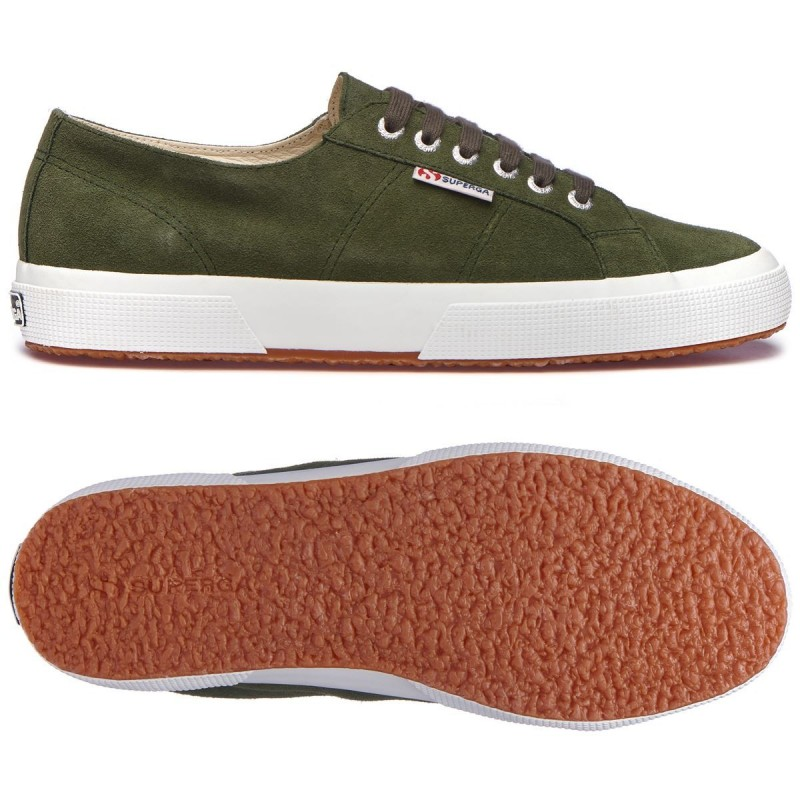 Superga 2750 Sueu Verde Laurel