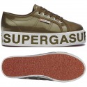 Superga 2790 COTTRANSPLETTERINGW MILITARY GREEN