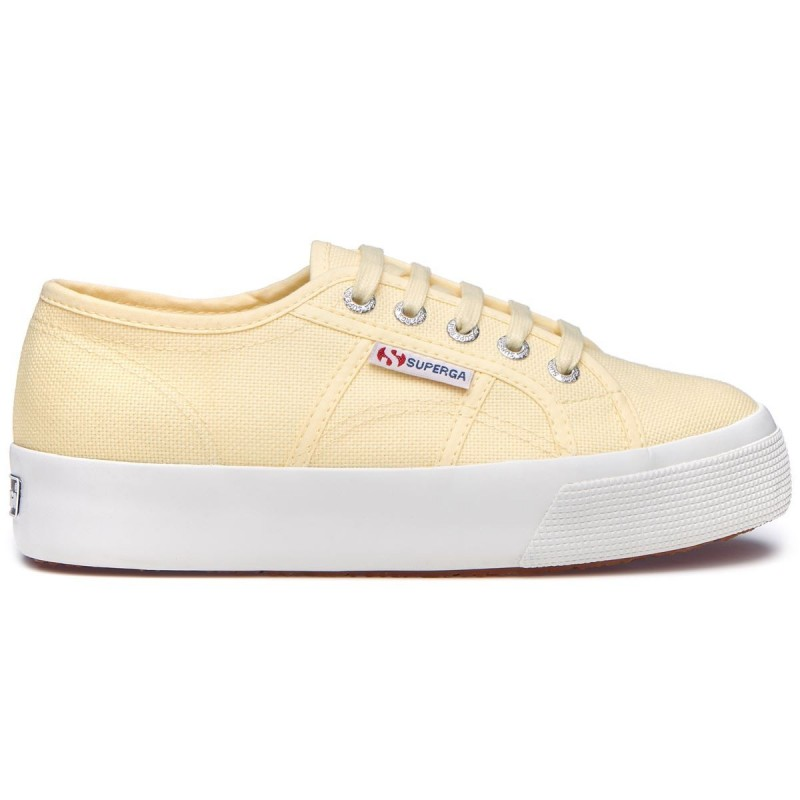 Superga Suela 3 cm BEIGE DOUBLE CREAM